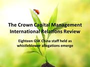 The Crown Capital Management International Relations Review