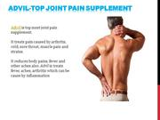advil- top joint pain supplement