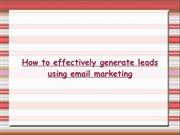 leads using email marketing