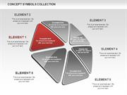 Triangle Concept Shapes for PowerPoint by PoweredTemplate.com