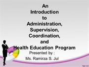 intro to admin, supervision.. etc