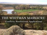 The Whitman Massacre and Conflict Resolution