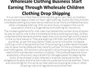Wholesale Clothing Business Start Earning Through Wholesale Children C
