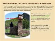 Paranormal Activity – Top 5 Haunted Places in India
