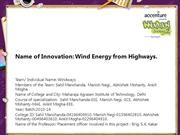 Wind Energy from Highways