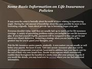Some Basic Information on Life Insurance Policies