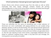 What's extremely Interesting Concerning Korean Movies