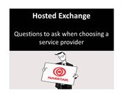 Choosing a Hosted Exchange Service Provider