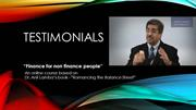 Testimonials- Romancing the balance sheet by Dr. Anil Lamba