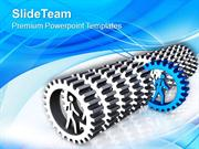 Gear Diagram For Leadership PowerPoint Templates PPT Themes And Graphi