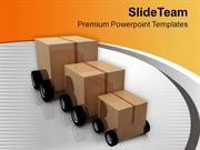Cart From Small Too Big Transportation PowerPoint Templates PPT Themes