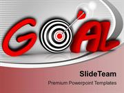 Goal And Conceptual Target With Arrow PowerPoint Templates PPT Themes