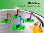 Musical Nodes Music Celebration Theme PowerPoint Templates PPT Themes