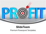 Sales and Profit In Conceptual Target PowerPoint Templates PPT Themes
