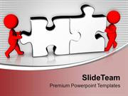 3d Man Assembling Puzzles Business PowerPoint Templates PPT Themes And