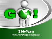 3d Man With Goal In Business PowerPoint Templates PPT Themes And Graph