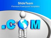 3d Man With Internet Theme PowerPoint Templates PPT Themes And Graphic