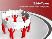 3d Man With Jigsaw Puzzle PowerPoint Templates PPT Themes And Graphics