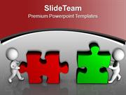 Assembling Puzzle Pieces Business PowerPoint Templates PPT Themes And