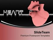 ECG With Heart Diagram Health Theme PowerPoint Templates PPT Themes An