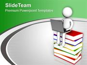 Single Laptop Can Replace Books PowerPoint Templates PPT Themes And Gr