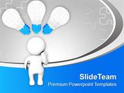 3d Man With Jigsaw Puzzles PowerPoint Templates PPT Themes And Graphic