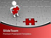 3d Man With Red Puzzle PowerPoint Templates PPT Themes And Graphics 04