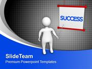 3d Man With Success PowerPoint Templates PPT Themes And Graphics 0413