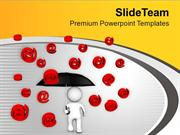 Save Yourself From Cyber Crime PowerPoint Templates PPT Themes And Gra
