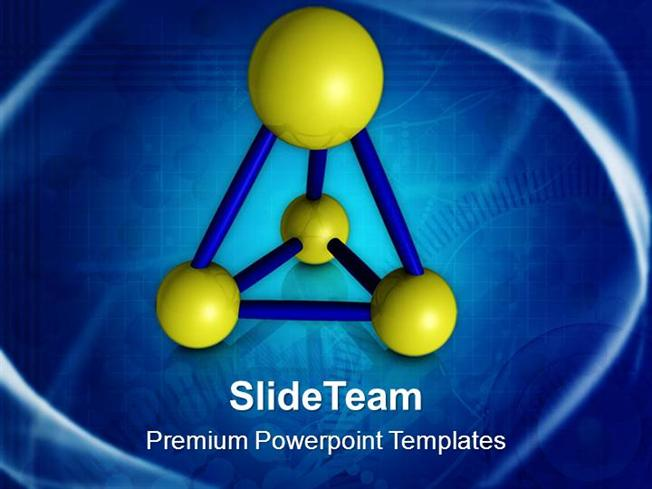 abstract model of atoms science powerpoint templates ppt themes an