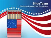 American Flag Matchbox PowerPoint Templates PPT Themes And Graphics 05