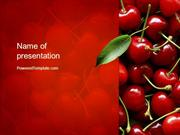 Cherries PowerPoint Template by PoweredTemplate.com