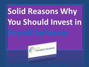 Solid Reasons Why You Should Invest in Payroll Software