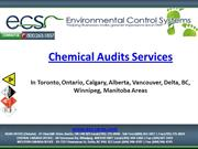 Chemical Audits Services - Toronto, Ontario