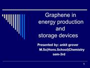 graphene energy production and storage device