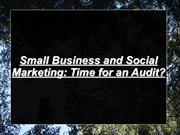 Small Business and Social Marketing: Time for an Audit?