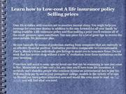 Learn how to Low-cost A life insurance policy Selling prices