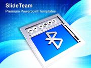 Browsing The Web Via Bluetooth PowerPoint Templates PPT Themes And Gra