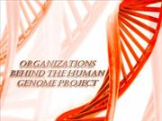 Organizations behind the Human genome project