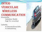 Inter vehicular wireless communicat