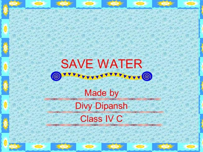 save water authorstream