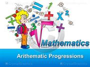 arithematic progressions