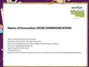 M2M COMMUNICATION