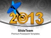 Achieve The All Target This New Year PowerPoint Templates PPT Themes A
