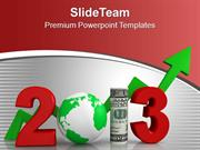 Define Business Growth This New Year PowerPoint Templates PPT Themes A