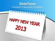 Happy New Year 2013 Wishes PowerPoint Templates PPT Themes And Graphic