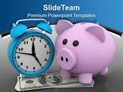 Save Your Money Increase It With Time PowerPoint Templates PPT Themes