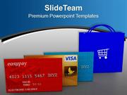 Use Credit And Debit Cards For Shopping PowerPoint Templates PPT Theme