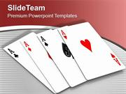 Win The Game Of Cards PowerPoint Templates PPT Themes And Graphics 051