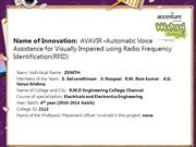 AVAVIR -Automatic Voice Assistance for Visually Impaired using Radio F